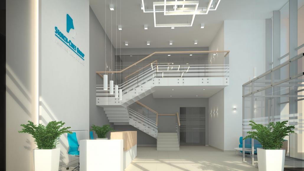 Office interiors, Pskov region