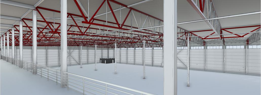 Storage facility BIM model