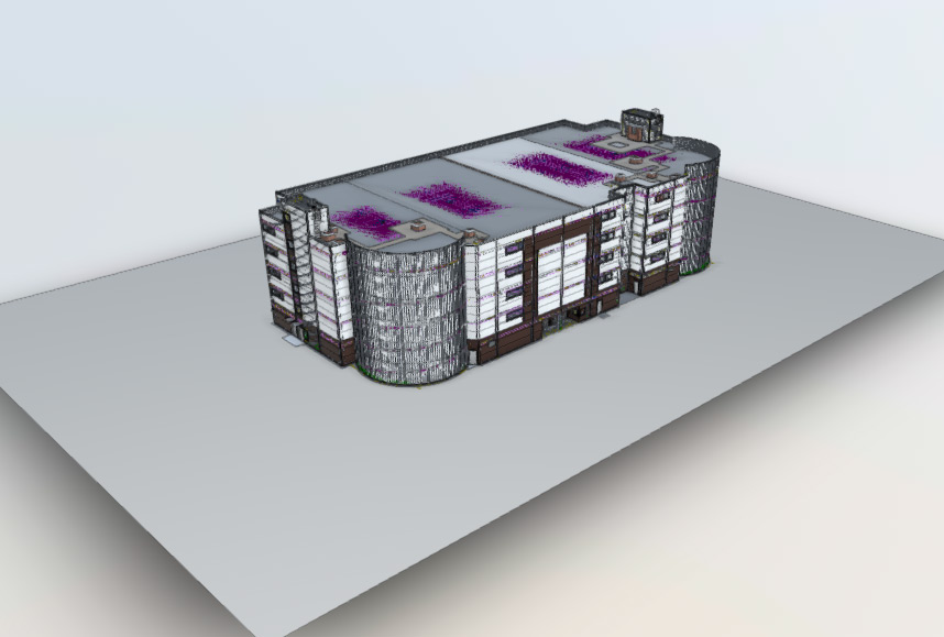 Apartment house BIM model